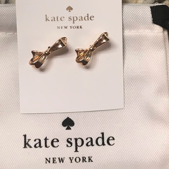 kate spade Jewelry - ♠️💋Kate Spade bow earrings!! NWT!!